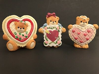Lucy & Me/Lucy Rigg Cookie, Card and Candy Heart Bears; FREE PRIORITY SHIPPING!!