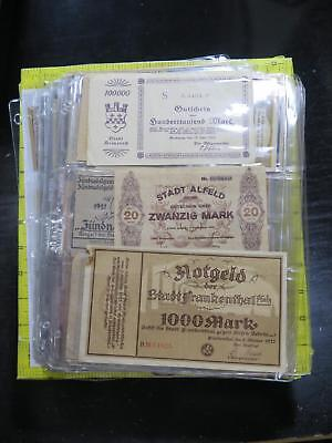 Austria Germany 160+ Notgeld 1M Mark Pfennig Currency Banknote Collection Lot
