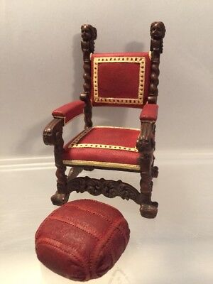 DOLLHOUSE MINIATURE FURNITURE CHAIR Raine Mr. Vanderbilt Collectible NEW