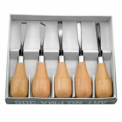 5Pcs Wood Carving Hand Chisels Tools Set For Woodworking Gouges Lathe Woodcut