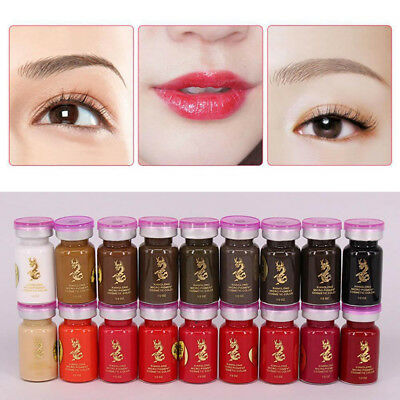 Cosmetic Eyebrow Lip Liner Tattoo Ink Semi Permanent Emulsions Makeup Pigment