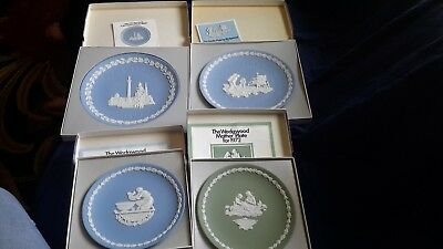 Beautiful Lot Of 4 Wedgwood Plates-Mint In Original Boxes