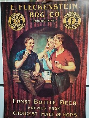 Reproduction Flecks/Fleckenstein beer poster. 19 inches x 26 inches