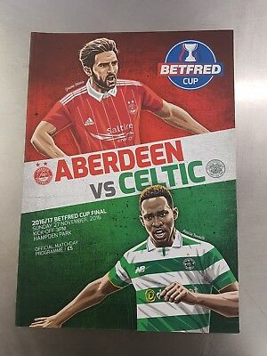 Aberdeen  v Celtic,  BETFRED, Cup Final, 27/11/2016