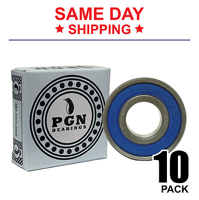 """Lot of 10 PCS, R8-2RS Premium Rubber Sealed Ball Bearing, 1/2""""x1-1/8""""x5/16"""" R8rs"""