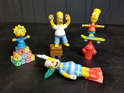 """Nice """"The Simpsons"""" Doodle Dudes '05 Novelty Pen LOT Of 4 USED"""