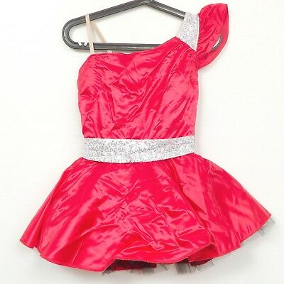 Curtain Call Costumes Dance 10 A Adult Womens Tutu Red Satin Belted