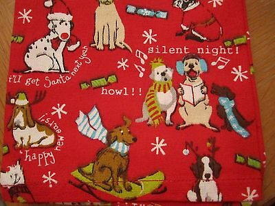 Red Silent Night BASSET HOUND Holiday Dog Antlers Christmas Kitchen Towels NEW
