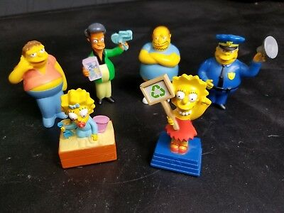 """Nice """"The Simpsons"""" Burger King '07 Novelty Happy Meal Toys With Voice Buttons"""