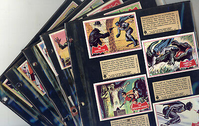 1966 Topps Batman (Red Bat) Complete Card Set of 44 GD (Glued, but Look NM)