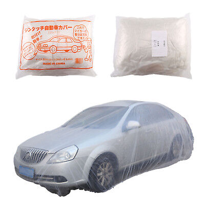 Disposable Clear Plastic Universal Car Covers Rain Dust Garage Cover Waterproof
