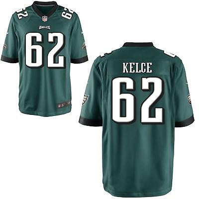 Jason Kelce Men's Green Game Jersey