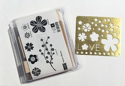 New Stampin Up! EASTERN BLOOMS wood stamp set with STENCIL