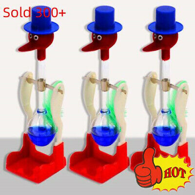 Novelty Retro Glass Happy Drinking Bird Bobbing Dipping Dippy Einstein Duck Toys