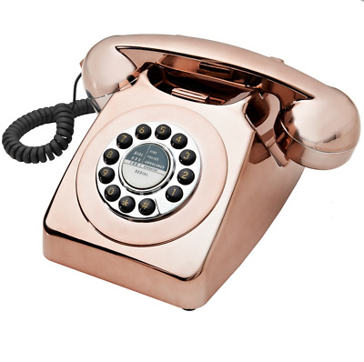 Copper Rose Gold Bronze Retro Vintage Urban Style Home Telephone Goodmans 746