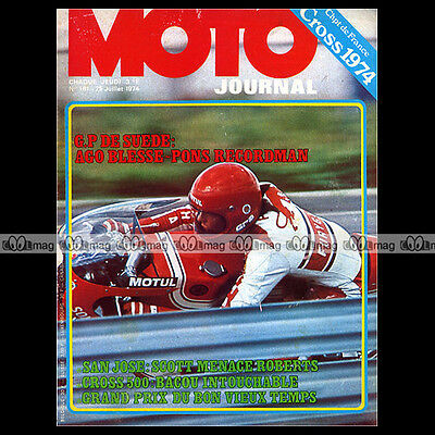 Moto Journal 181 Patrick Pons San Jose Bellême ★ Grand Prix Anderstorp 1974 ★