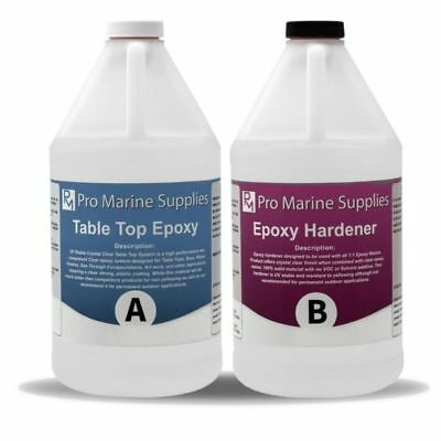 Epoxy Adhesives Resin Coating For Wood Tabletop Art Works 2 Gal Kit High Gloss