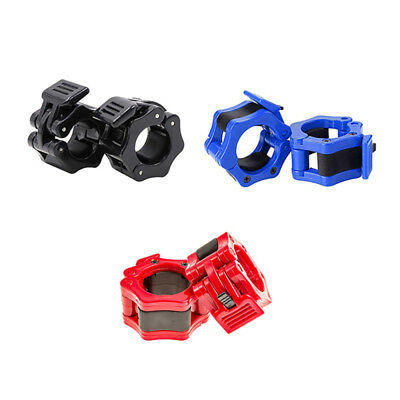 High Strength Nylon Spinlock Collars Barbell Dumbell Clips Clamp Weight Bar fde