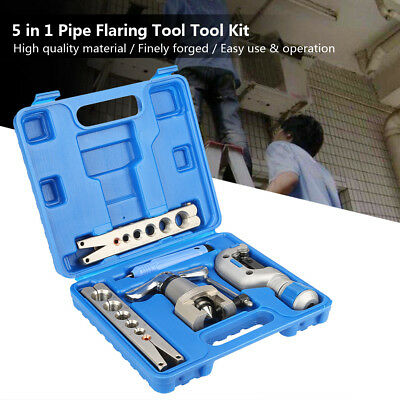 5 in 1 Manual Pipe Flaring Tool Kit SS Copper Aluminum Pipes Expander with Box