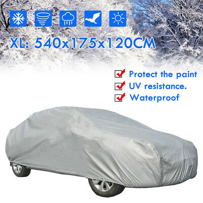 XL Universal Full Car Cover Anti Sun UV Dust Scratch Resistant Protection Large