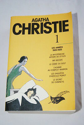 Agatha Christie Les Annees 1920 1925 Le Masque Mr Brown Crime Du Golf Poirot