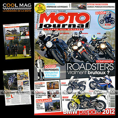 Moto Journal N°1952 Ktm 990 Super Duke Mv Agusta Brutale Triumph Speed Triple
