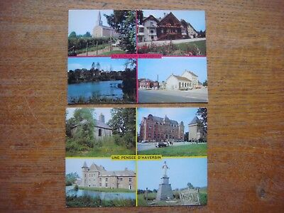 Lot de 2 cartes de HAVERSIN ( Serinchamps Ciney )