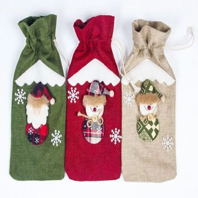 Christmas Decoration  Party Table Decor Wine Bottle Cover Christmas Gifts Cute