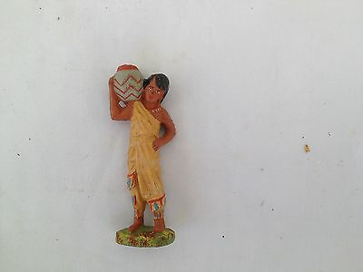 A244/     Hausser Elastolin Indianer  Kind Wildwest Figur von ca. 1935/55