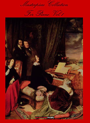Piano Book Volume 1 Song Book Masterpiece Collection Beethoven Bach Debussy Etc