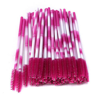 50pcs Travel Disposable Lip Brush Wand Lipstick Applicator Stick Makeup Tool LG
