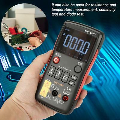 ANENG Q1 True RMS Digital LCD Multimeter Button 9999 Counts w/ Analog Bar Graph