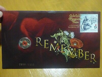 Australian Post Ballot Only 2018 Armistice Remembrance Day 1111 PNC Impressions
