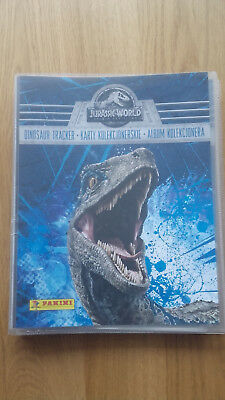 Panini jurassic world fallen kingdom complete set 165 cards  binder limited