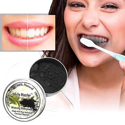 15g Teeth Whitening Powder Natural Organic Activated Charcoal Bamboo Toothpaste