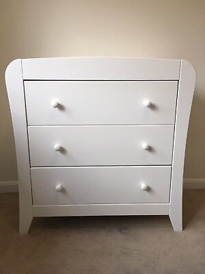 Mamas and Papas Fern White Pine Baby Changer/Chest Of Drawers - Good Condition