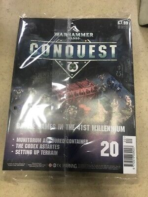 Warhammer Conquest Issue 20 with Munitorum Armoured Container,Crates and Barrels