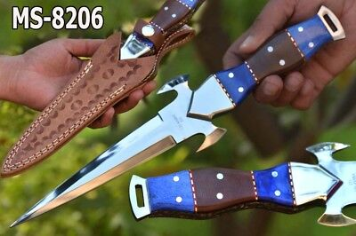 "12.3""s.d.knives Custom Mirror Polish D2 Steel Full Tang Combat Dagger Knif M8206"