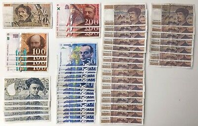 52 x Mixed Banknote Collection - FRANCE.  (2489)