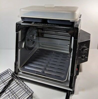 Ronco Showtime Rotisserie Oven 4000 Black with Steam Bowl