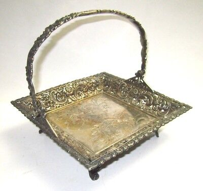 1800's Aesthetic Rogers Smith Silver Cakes Sweets Pastry Stand Quadruple Plate