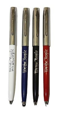 Fisher Space Pen custom We the People Chrome Cap with colorful Barrel - NEW