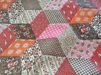 Antique Cotton Tumbling Blocks Cheater 25 Inch Selveges