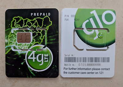 NEW! Active Nigerian SIM card Nigeria GLO operator micro/regular/micro Internet