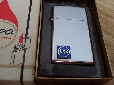 Zippo Slim Lighter ( United States Steel ) Mint Un-Fired In Box  1968