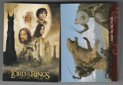 2003 TOPPS LORD OF THE RINGS TWO TOWERS COMPLETE UPDATE SET numbers 91 -162