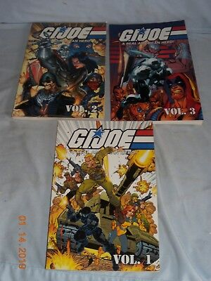 MARVEL G.I. JOE: A REAL AMERICAN HERO, VOL. 1, 2 & 3, By Larry Hama **NEW** 2002