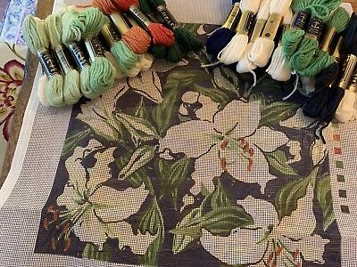 "Ehrman tapestry ""Lilies"" by  Annie Doherty"