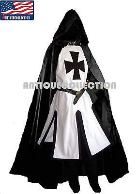 Antique Collection Medieval Templar Knight Crusader Surcoat & Cloak Reenactment