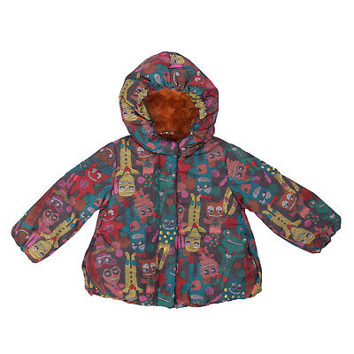 OILILY Jacket Size 18M / 80 CM Padded Sherpa Lined Printed Hooded RRP €170